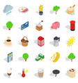 old world icons set isometric style vector image vector image