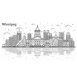 outline winnipeg canada city skyline with modern vector image vector image