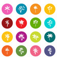palm tree icons many colors set vector image vector image
