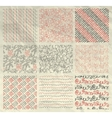 Pen Drawing Seamless Patterns on Crumpled Paper vector image vector image