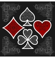 Playing card symbols with shadows set vector image vector image