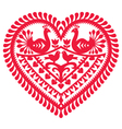 Polish folk art pattern for Valentines Day vector image vector image