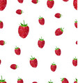 raspberry fruit on a white background seamless vector image vector image