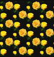 seamless rose pattern floral background vintage vector image vector image