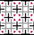 seamless tileable pattern with cross grid and vector image vector image