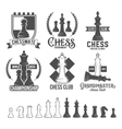 set chess labels badges and design elements vector image