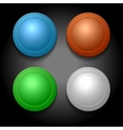 set different color blank buttons template vector image
