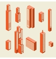 Set of tall buildings vector image