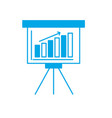 silhouette strategy presentation with statistics vector image vector image
