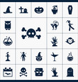 skull icon halloween set simple sign vector image
