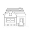 small modern house building for sale or live in vector image