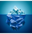 snow iceberg mountain in polygonal style vector image vector image