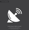 sputnik antenna premium icon white on dark backgro vector image vector image