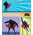 Superhero Banners vector image vector image