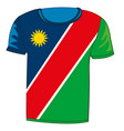 t-shirt flag namibia vector image vector image