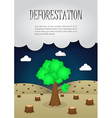 The last remaining trees in the forest Nature vector image