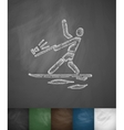 water-skiing icon Hand drawn vector image vector image