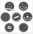 Set of vintage tools labels vector image