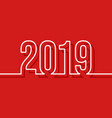 2019 new year cover template minimal design vector image