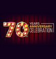 70 years anniversary banner seventy vector image vector image