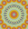 Abstract geometric sun mandala design background vector image vector image