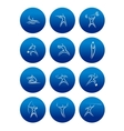 Abstract sporting pictograms with silhouettes of vector image vector image