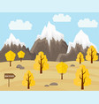 autumn landscape in flat style vector image vector image