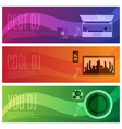 banners set of dj and music theme vector image vector image