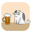 Beer and Tomcat vector image