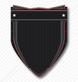 Black Biker Shield vector image vector image
