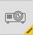 black line presentation movie film media vector image vector image