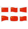 china flag official colors of vector image