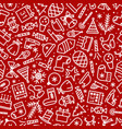 christmas pattern cute style vector image