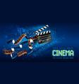 cinema producers clapperboard vector image vector image
