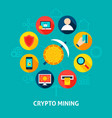 crypto mining concept vector image vector image