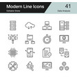 data analysis icons modern line design set 41 vector image vector image