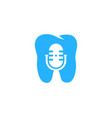 dental podcast logo icon design vector image vector image