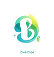 ecology lowercase letter b logo overlapping vector image vector image