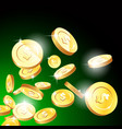explosion gold coins casino fortune and vector image vector image