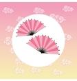 fan japan culture design vector image vector image