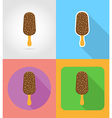 fast food flat icons 07 vector image