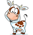 funny cow cartoon - isolated on white background vector image vector image