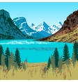 Glacier National Park vector image
