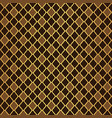 gold and brown moroccan motif tile pattern vector image vector image
