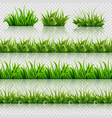 green grass seamless borders set vector image vector image
