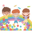 happy childrens day funny celebration kids with vector image