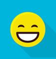 happy emoticon icon flat style vector image vector image