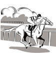 horse and rider during a race vector image vector image