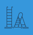 Isolated linear icon of ladder and stepladder