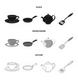 isolated object of kitchen and cook icon vector image vector image